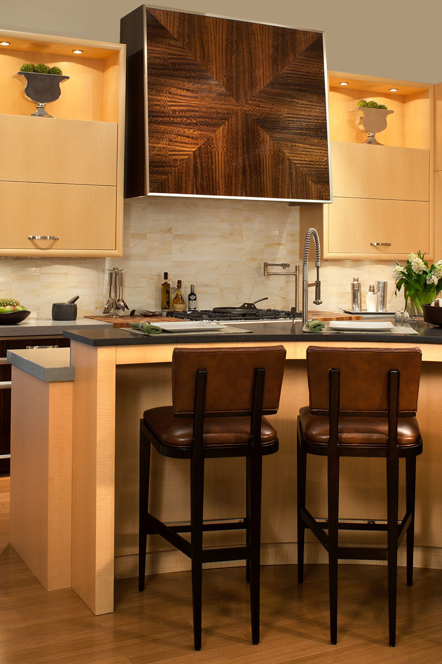on the light side exquisite kitchen design Intriguing patters and textures